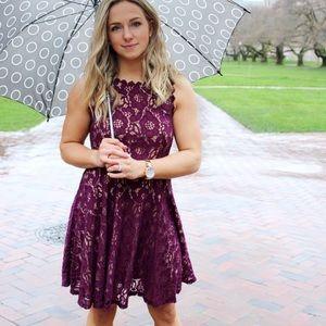 Purple lace dress - Macy's